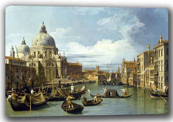 Canaletto, Giovanni Antonio Canal: The Entrance to the Grand Canal, Venice. Fine Art Canvas. Sizes: A4/A3/A2/A1 (003530)